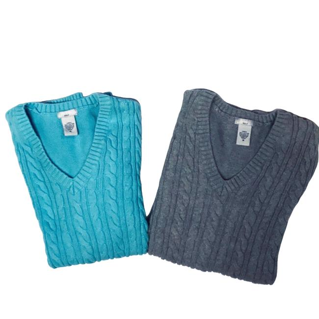 Item - Golf Cotton Cable Golf M Blue Sweater