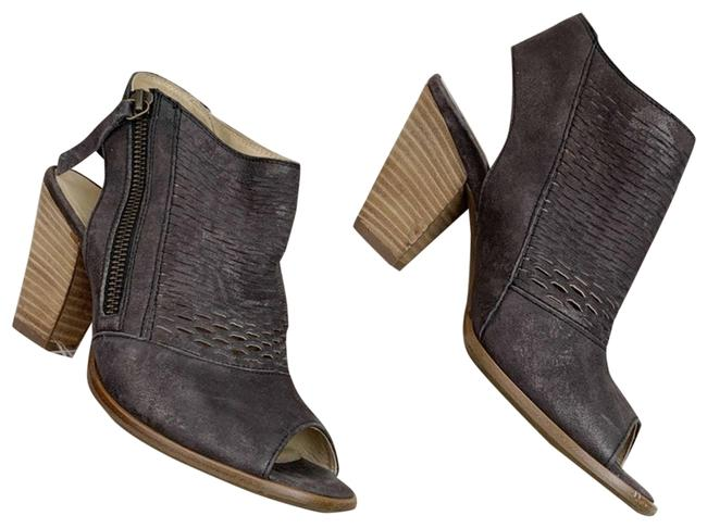 Item - Gray Willow Square Peep Toe Heeled Boots/Booties Size US 5.5 Regular (M, B)