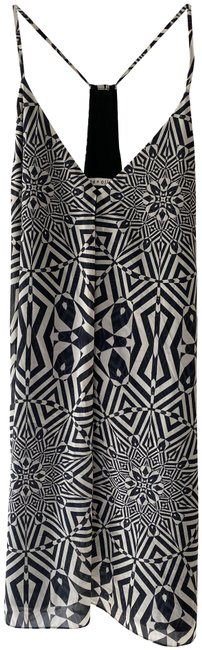 Item - Black and White Alice+olivia Y-back Mini Short Night Out Dress Size 12 (L)