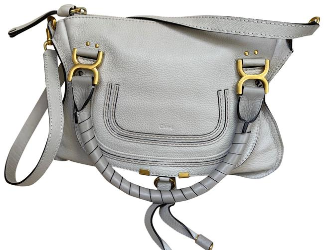 Item - Marcie Medium In Ivory Leather Satchel
