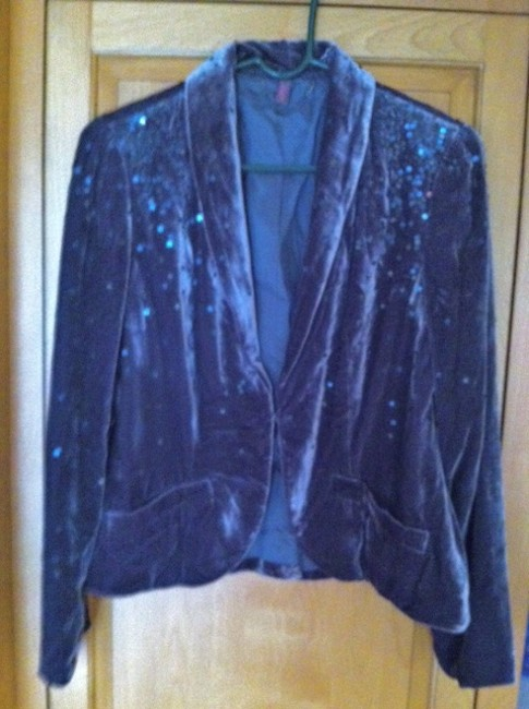 Item - Lavender Velvet with Sequins Blazer Size 10 (M)