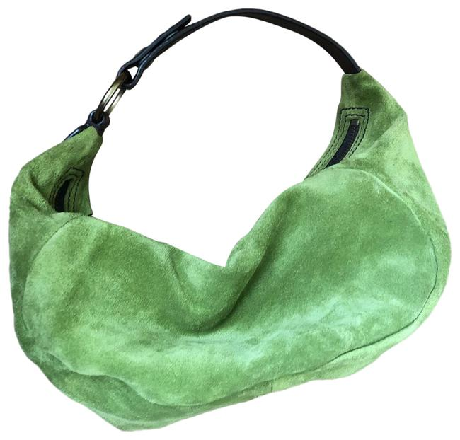 Item - Green Suede Leather Shoulder Bag
