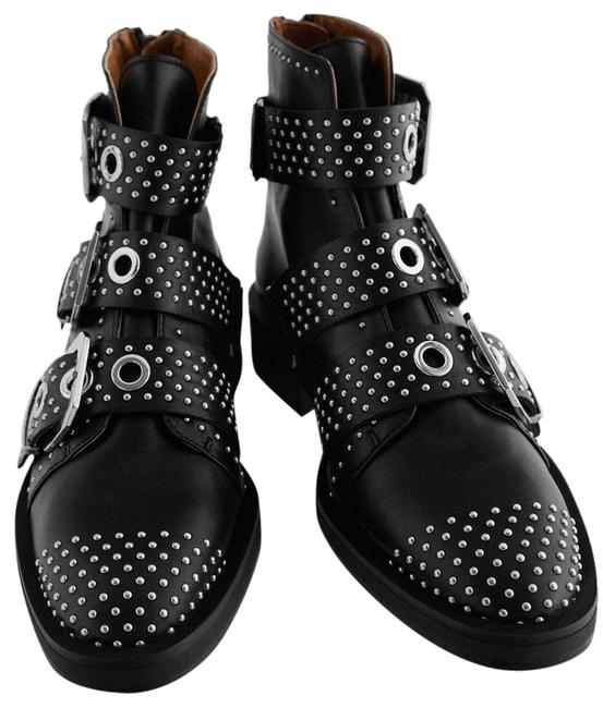 Item - Black New Studded Low Heeled Leather Ankle with Buckles 37 Boots/Booties Size US 6.5 Regular (M, B)