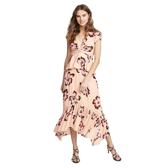 Item - Pink L Zadie In Blush/Pink Flower Long Casual Maxi Dress Size 4 (S)