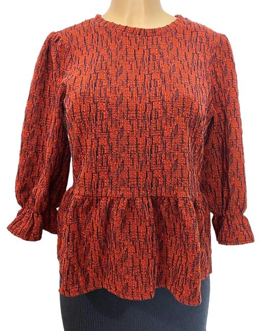 Item - Red and Blue Perette Blouse Size 4 (S)
