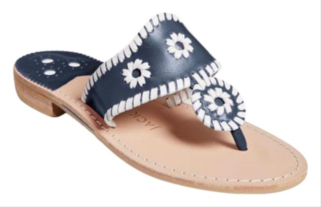 Item - Blue and White New Heritage Flat Sandals Size US 11.5 Regular (M, B)