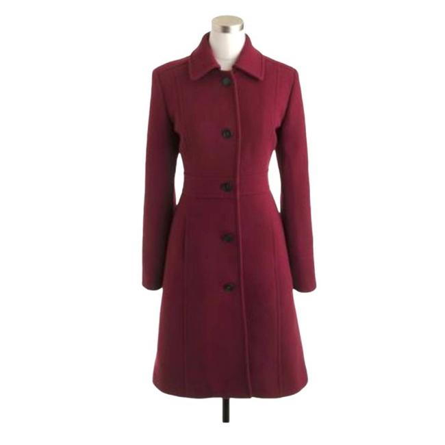Item - Red Lady Day Italian Double Cloth Wool Burgundy Coat Size 4 (S)