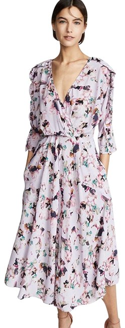 Item - Purple Liky Midi In Lilac Floral Us Mid-length Casual Maxi Dress Size 0 (XS)
