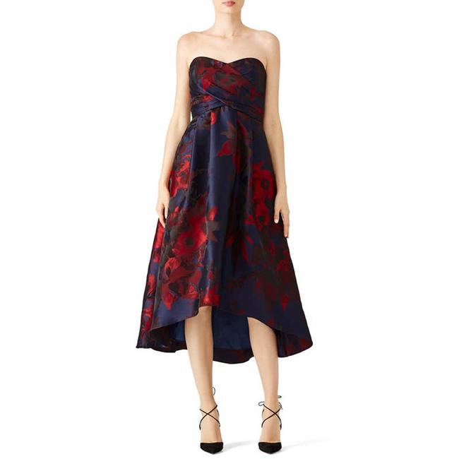 Item - Blue Dawn In Navy/Red Mid-length Formal Dress Size 6 (S)