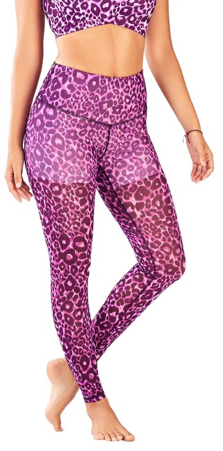 Item - Purple High-waisted Pureluxe Mesh Activewear Bottoms Size 6 (S, 28)