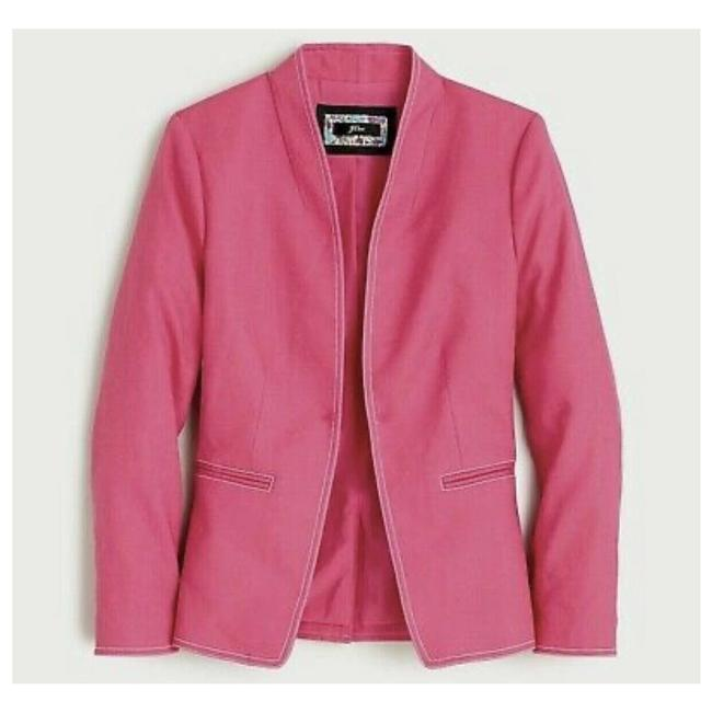 J.Crew Pink Going Out Stretch Linen Blazer Size 6 (S) J.Crew Pink Going Out Stretch Linen Blazer Size 6 (S) Image 1