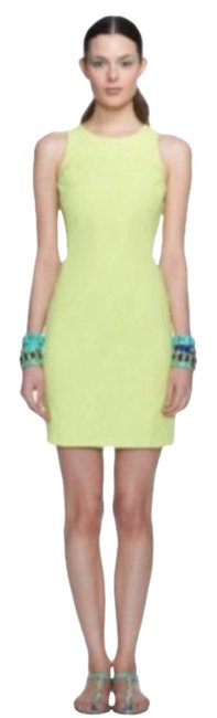 Item - Lime Green Milly Collection Jacquard Sheath Short Casual Dress Size 6 (S)