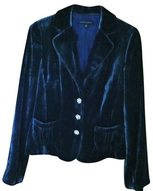 Banana Republic navy velvet Blazer