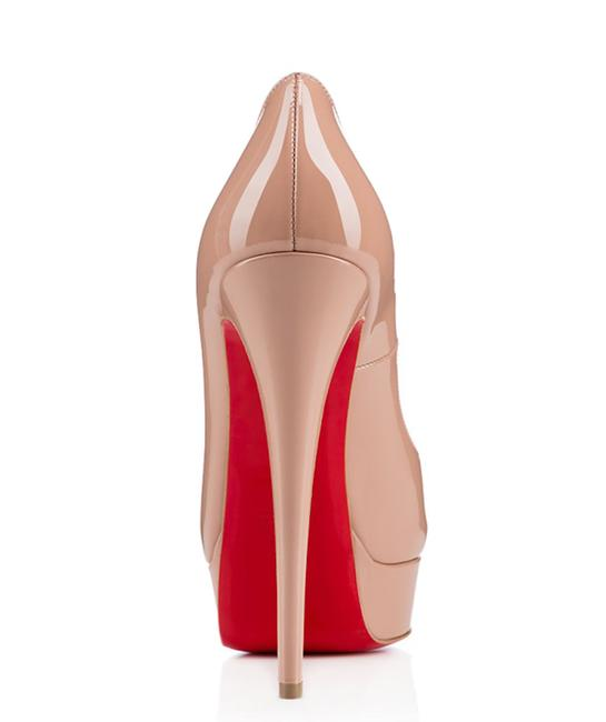 Christian Louboutin Nude Lady Peep Patent Leather Red