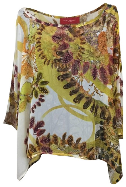 Item - Gold Chicago Semi-sheer Browns Blouse Size 4 (S)