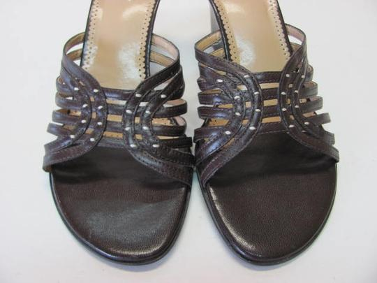 Franco Sarto Good Condition Leather Size 9.5 brown Wedges