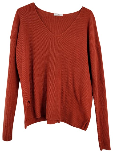 Item - Crew Neck Long Sleeve Copper Knit Sweater