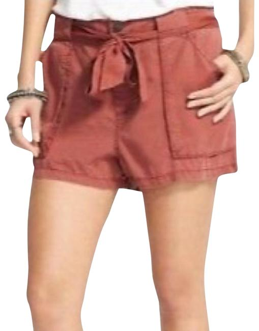 Item - Red Drippy Tencel Belted Casual Mars Women's Shorts Size 2 (XS, 26)
