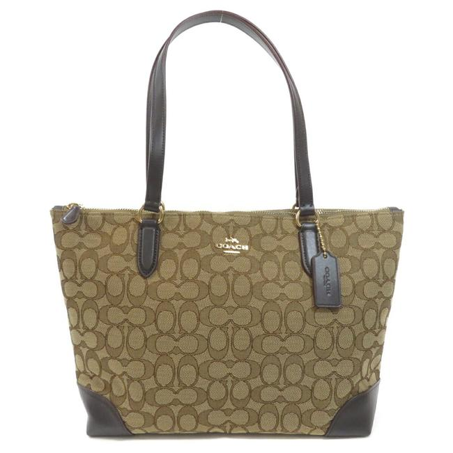 Item - Bag F29958 Signature Ladies Brown Canvas Tote