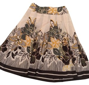 Kenar Skirt Cream with brown and yellow embroideries