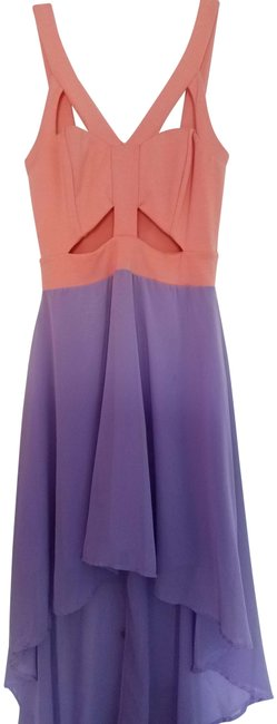 Item - Pink and Purple Light High-low Mid-length Formal Dress Size 4 (S)