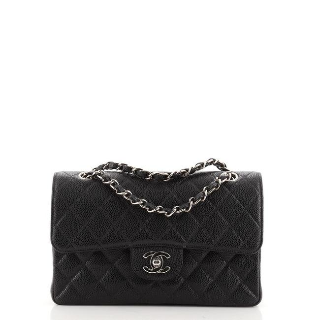 Item - Classic Flap Vintage Classic Double Quilted Caviar Small Black Leather Shoulder Bag