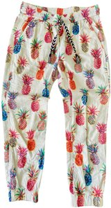 J.Crew Summer Bright Relaxed Pants Off-white, multicolored
