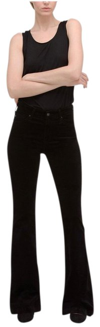 Item - Black High Rise Janis Velvet Pants Size 00 (XXS, 24)