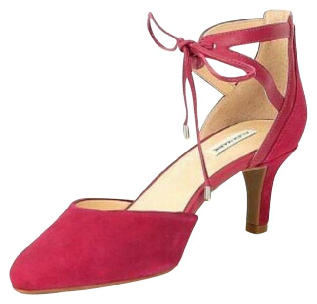 Item - Pink Ankle Wrap Suede Classic Heel Pumps Size US 6.5 Regular (M, B)