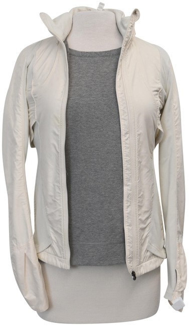 Item - White XS Zip-up Xs/Small Activewear Outerwear Size 2 (XS)