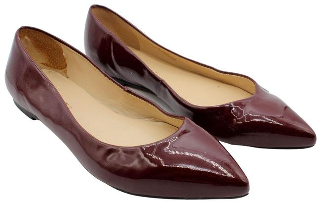 Item - Red Patent Leather Pointed Toe Ballet Flats Size US 7 Regular (M, B)