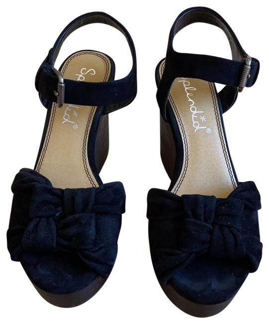Item - Black Sandals Wedges Size US 6 Regular (M, B)