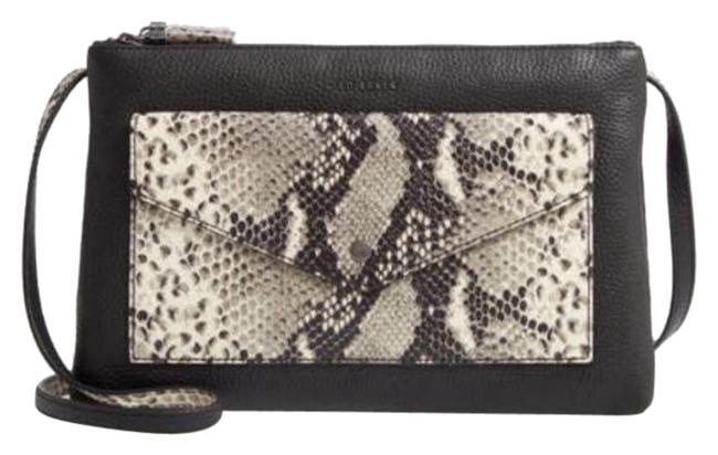 Item - Jessie Exotic Bar Black Leather Cross Body Bag
