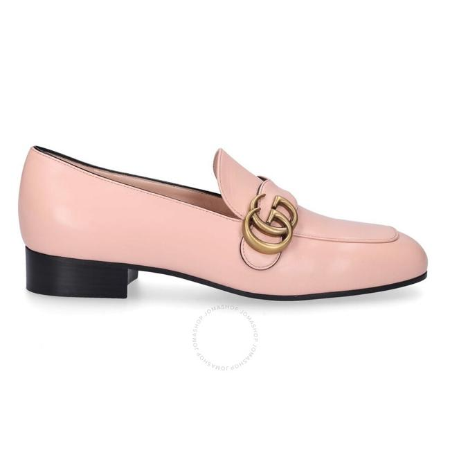 Item - Pink Double G Leather Loafers Formal Shoes Size EU 38 (Approx. US 8) Regular (M, B)