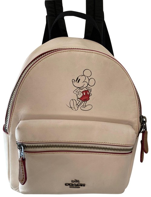 Item - Mickey Mouse Disney White Leather Backpack