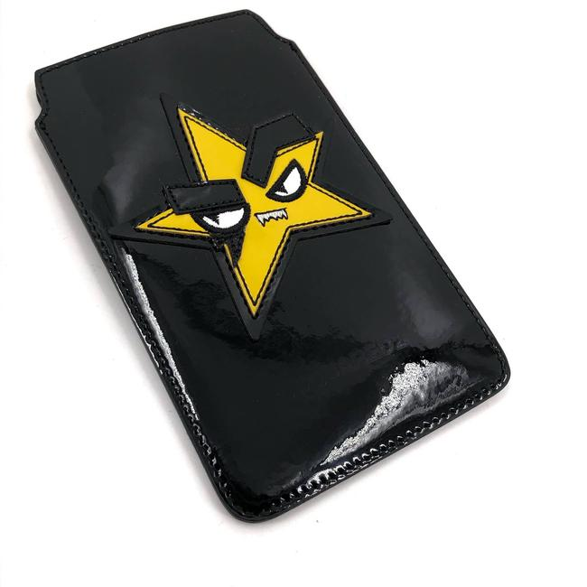 Item - Black Star Phone Case Sleeve Pouch Leather Patent New Tech Accessory