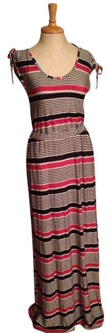Black White Pink Multi Maxi Dress by Tulle