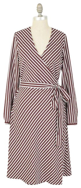 Item - Red Wrap Short Work/Office Dress Size 6 (S)