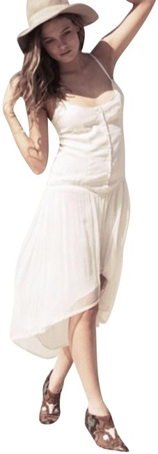 Item - Off-white And White Little Fox Mid-length Casual Maxi Dress Size 6 (S)