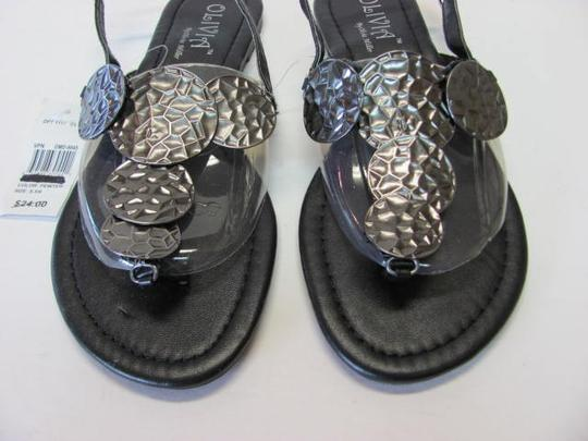 Olivia Miller Excellent Condition New With Tag black, gunmetal Sandals