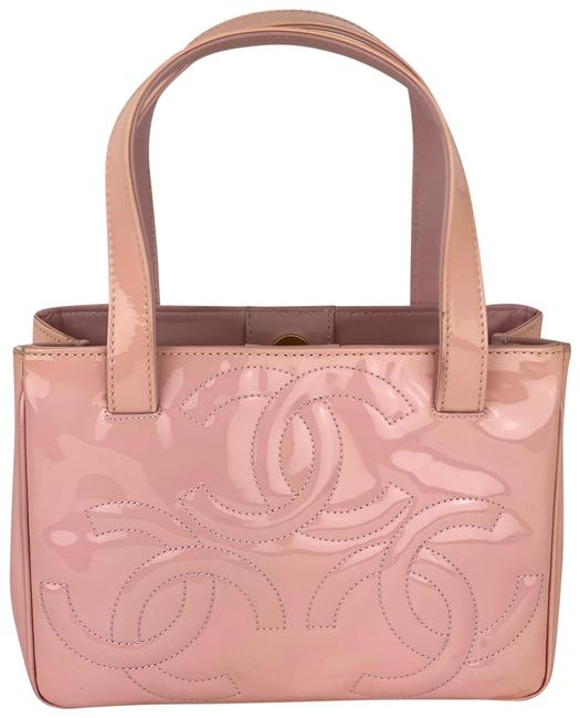 Item - Cc Logo Small B345 Pink Patent Leather Tote