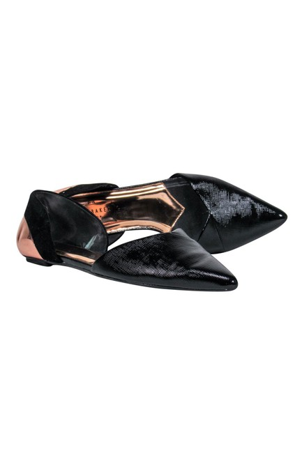 Item - Black Flats Size US 7.0 Regular (M, B)
