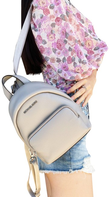 Item - Shoulder Bag Erin Small Leather Convertible Pearl Gray Backpack