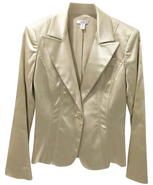 Item - Gold Silver Metallic Button Jacket Blazer Size 6 (S)