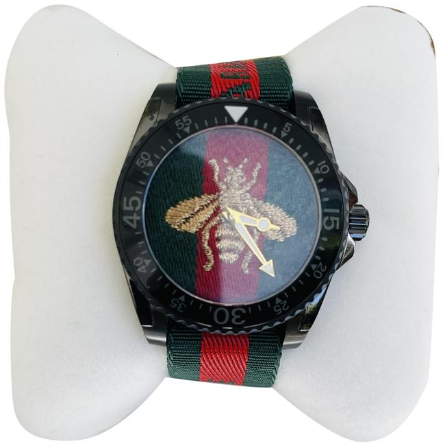 Item - Black with Red and Green Strap Men's Diver Embroidered Bee Dial - Ya136216 Watch