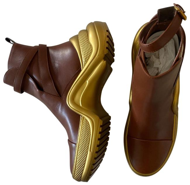 Item - Cognac Brown and Gold Archlight Ankle Boots/Booties Size EU 42 (Approx. US 12) Regular (M, B)