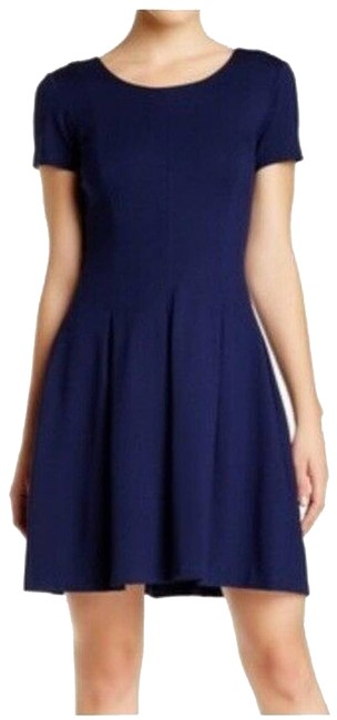 Item - Blue Dvf Meg Solid Fit Sleeve Short Casual Dress Size 8 (M)
