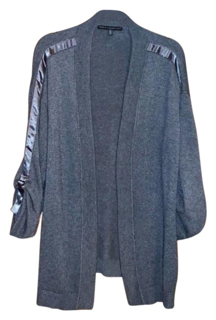 Item - Gray Ball and Chain Sweater Coverup Cardigan Size 16 (XL, Plus 0x)