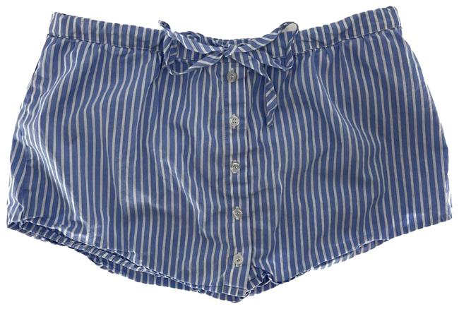 Item - Blue Striped Button Front Pajama M Skirt Size 8 (M, 29, 30)