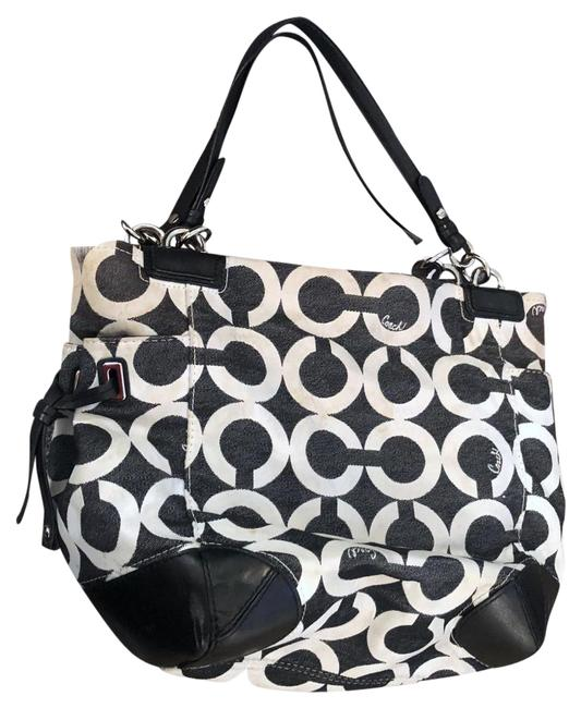 Item - Peyton Canvas Signature Op Art Tote